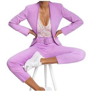 NWT ZARA Co-ord Set Suit Lilac